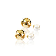 World Globe / Pearl Earrings
