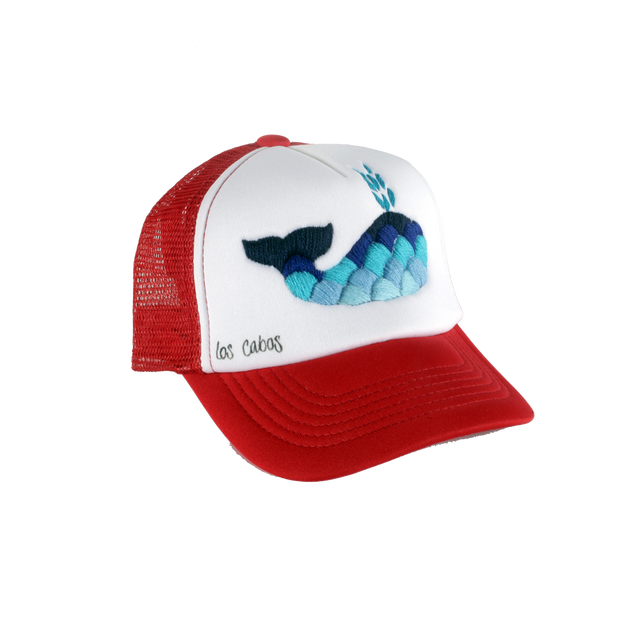 Embroidered Whale Hat