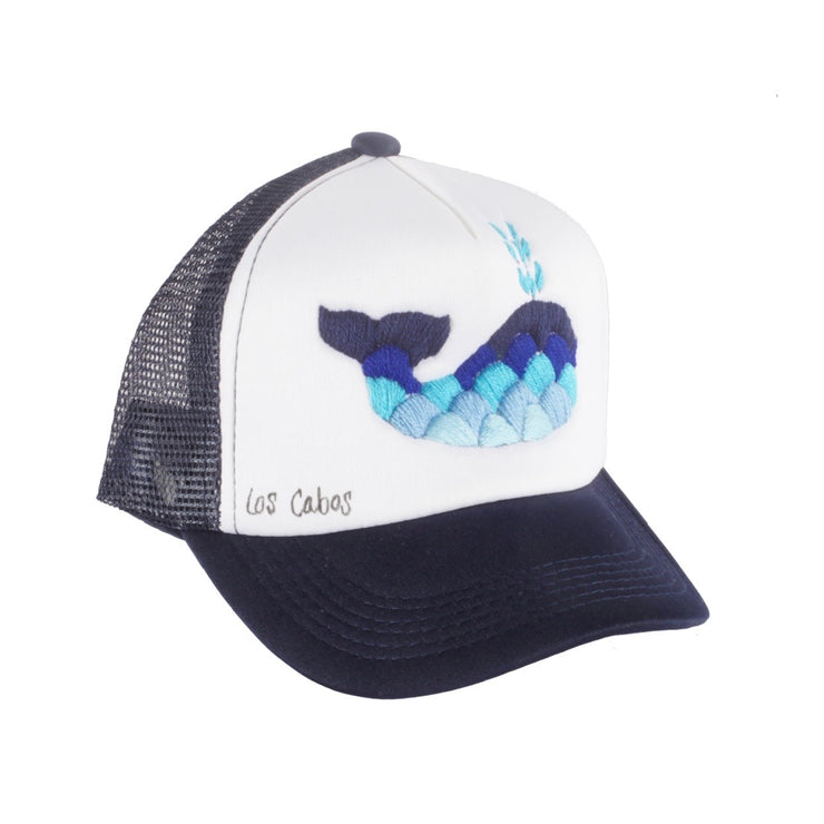 Embroidered Whale Hat (Kids)