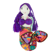 Embroidered Mermaid Doll - Large