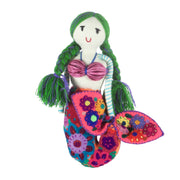 Embroidered Mermaid Doll - Medium