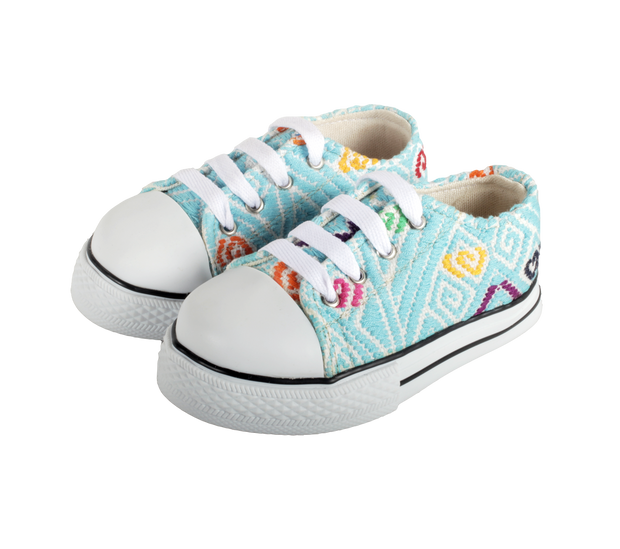 Kids Tennis Shoe- Azul Cielo