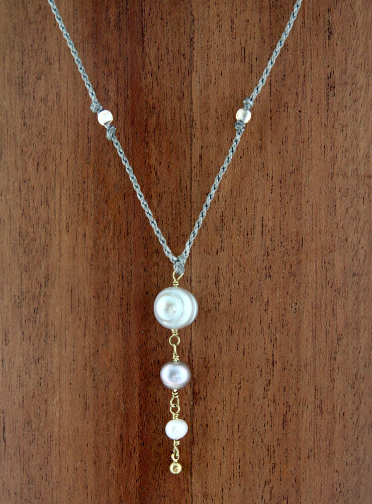 Macrame Pearl Necklace