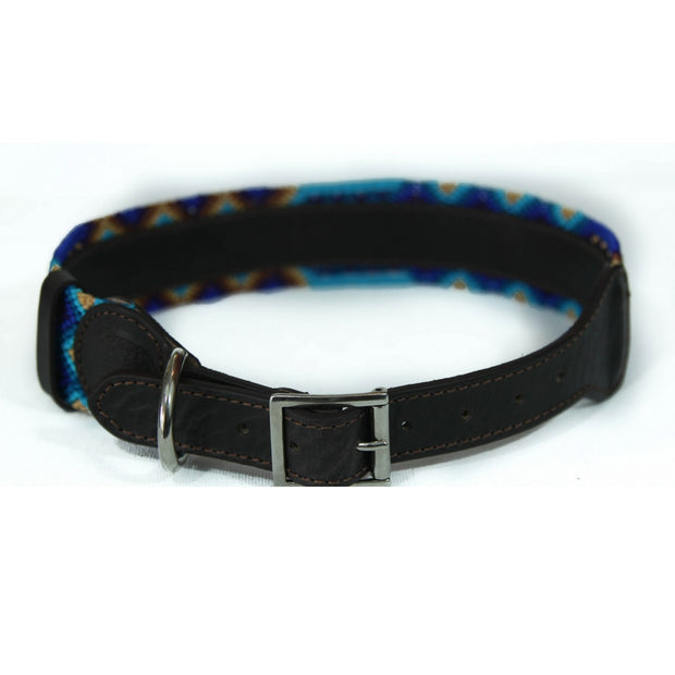 Artisan Dog Collar - Deep Blue