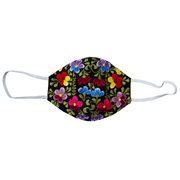 Embroidered Flowers Face Mask