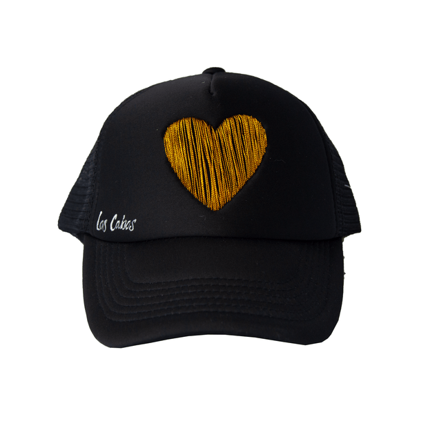 Embroidered Heart Hat (Adult)