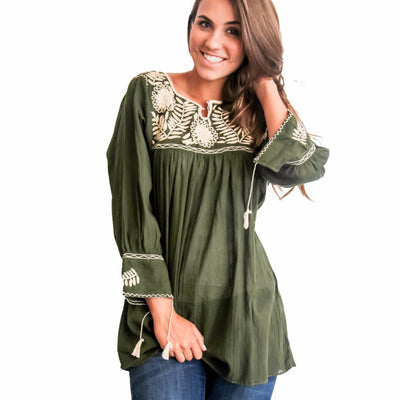Margarita 3/4 Sleeve Blouse