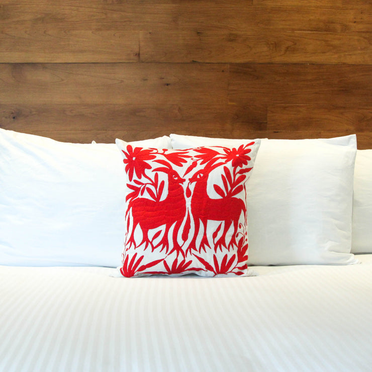 Oaxaca Pillow Case - Red