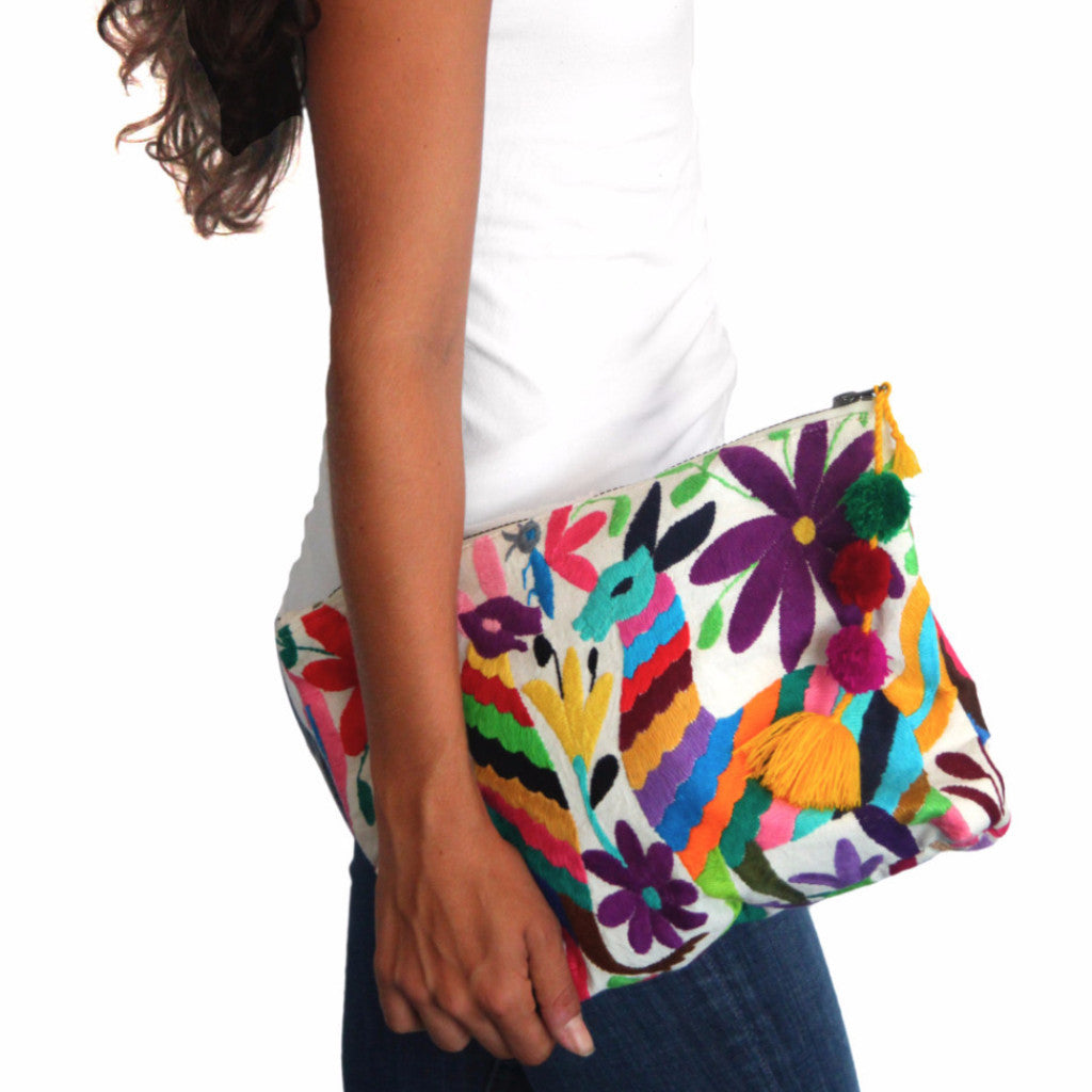 Otomi Clutch with Tassels