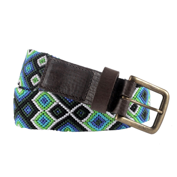 Chiapas Woven Belts- Seattle Blue
