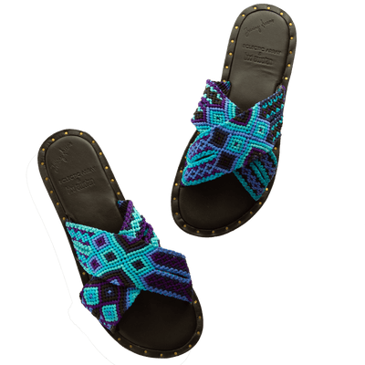 Seti Woven Bands Blue Skies Sandals