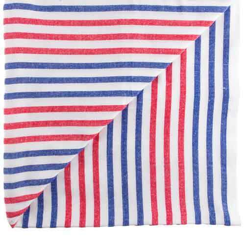 Red Blue White Beach Blanket Gringa