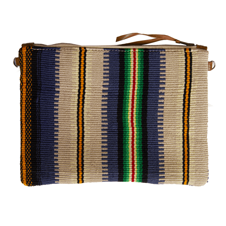 TWIN DONKEYS w VINTAGE SERAPE CLUTCH