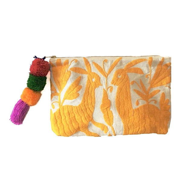 Otomi Clutch with Heart Tassel