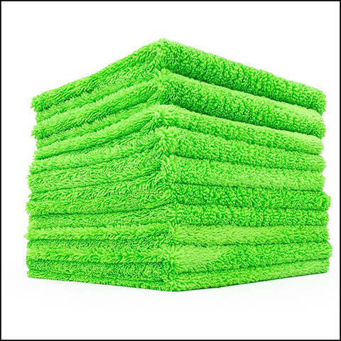The Rag Company *10pk* Creature Edgeless Microfiber Towel - Lime (16x16)