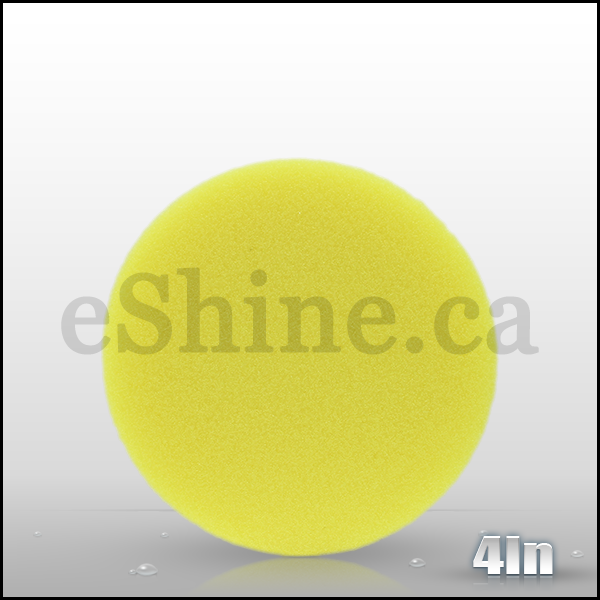"Lake Country 4"" FLAT Yellow Cutting Pad"