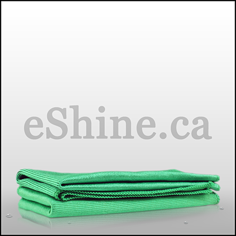 The Rag Company Glass & Window Towel - Green (16x16) 51616-GLAS-GRN
