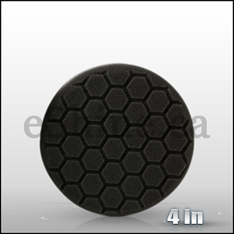 "Chemical Guys 4"" Hex Logic Black Finishing Pad (BUFX_106HEX4)"