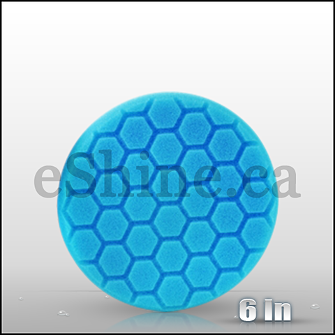 "Chemical Guys 6.5"" Hex Logic Blue Light Polish/Finish Pad (BUFX_105HEX6)"