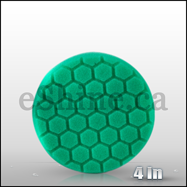 "Chemical Guys 4"" Hex Logic Green Light Cut Pad  (BUFX_103HEX4)"