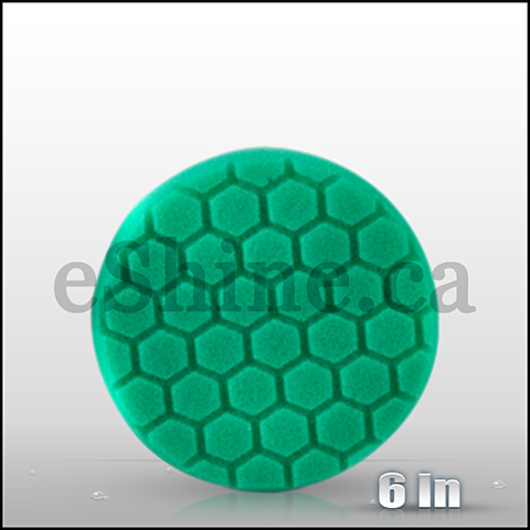 "Chemical Guys 6.5"" Hex Logic Green Polishing Pad  (BUFX_103HEX6)"