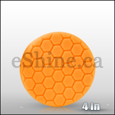 "Chemical Guys 4"" Hex Logic Orange Medium Cut Pad  (BUFX_102HEX4)"