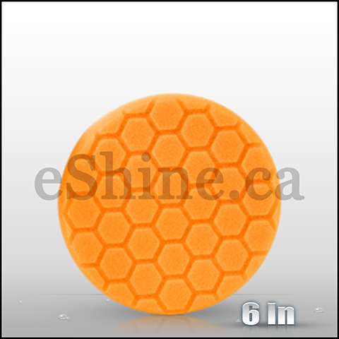 "Chemical Guys 6.5"" Hex Logic Orange Medium Cut Pad (BUFX_102HEX6)"