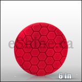 "Chemical Guys 6.5"" Hex Logic Red Ultra Light Finishing Pad (BUFX_107HEX6)"