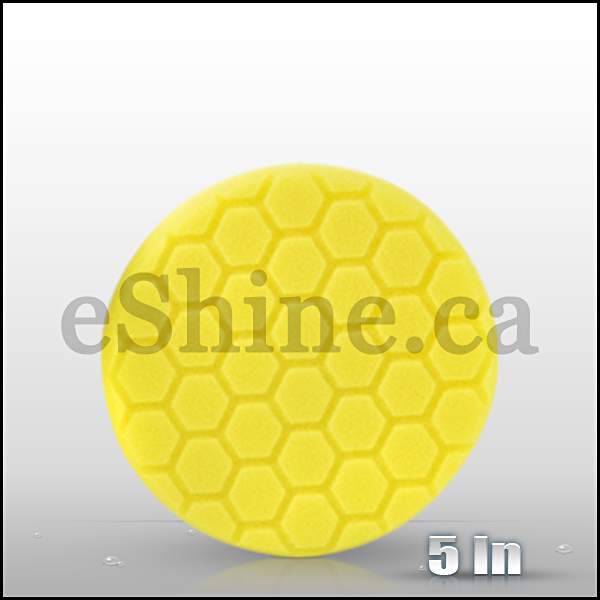 "Chemical Guys 5.5"" Hex Logic Yellow Heavy Cut Pad (BUFX_101HEX5)"