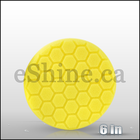 "Chemical Guys 6.5"" Hex Logic Yellow Heavy Cut Pad (BUFX_101HEX6)"