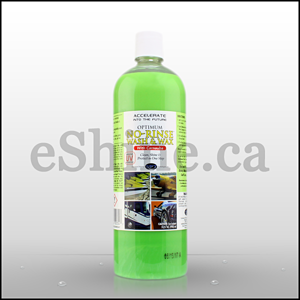 Optimum No Rinse >> Optimum No Rinse Wash Wax 32oz Eshine Car Care Canada