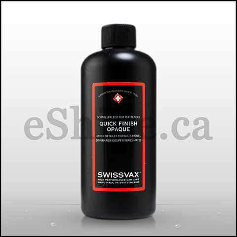 Swissvax Opaque Matte Quick Finish Detailing Spray W/Sprayer (250ml)