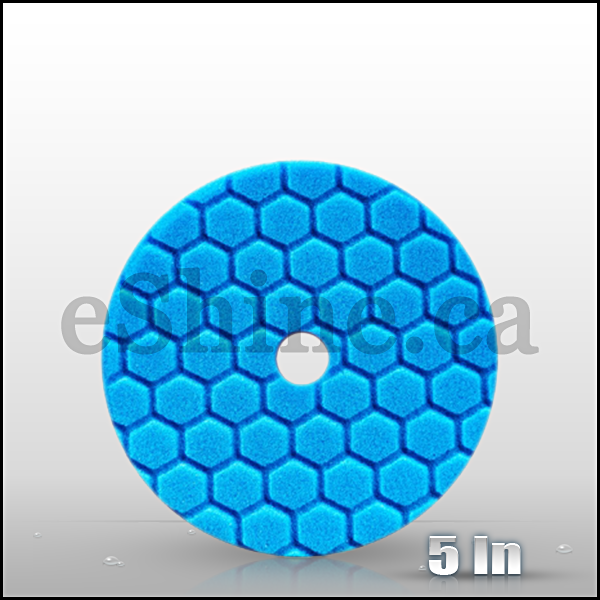 "Chemical Guys 5.5"" Quantum Hex Blue Polish/Finish Pad  (BUFX115HEX5)"