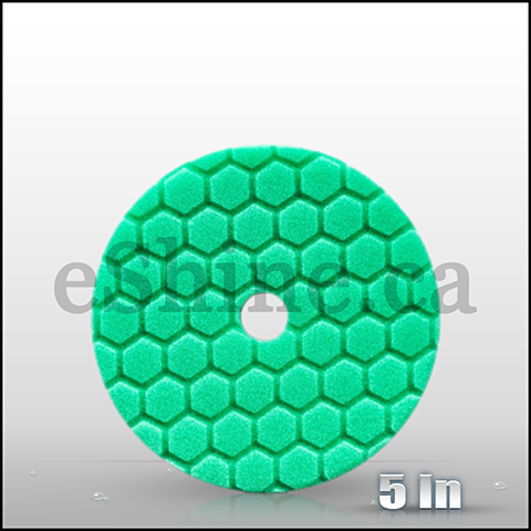 "Chemical Guys 5.5"" Quantum Hex Green Polishing Pad  (BUFX113HEX5)"
