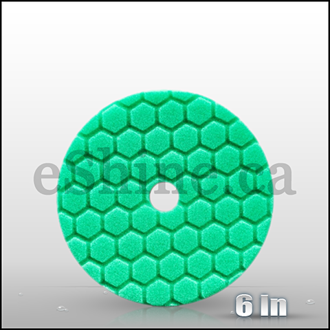 "Chemical Guys 6.5"" Quantum Hex Green Polishing Pad (BUFX113HEX6)"