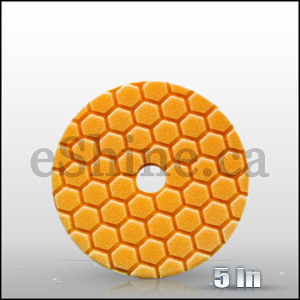 "Chemical Guys 5.5"" Quantum Hex Orange Medium Cut Pad (BUFX112HEX5)"