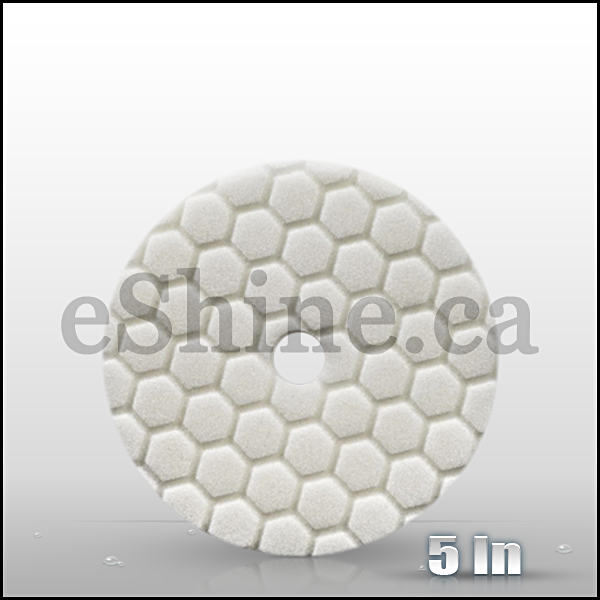 "Chemical Guys 5.5"" Quantum Hex White Light Polishing Pad  (BUFX114HEX5)"