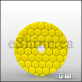 "Chemical Guys 5.5"" Quantum Hex Yellow Heavy Cut Pad  (BUFX111HEX5)"