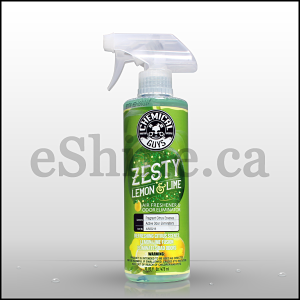 Chemical Guys Scent Zesty Lemon Lime Air Freshener W/Sprayer (16oz) (AIR23216)