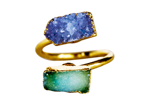 Peone Druzy Ring - Happy Poppy Jewelry