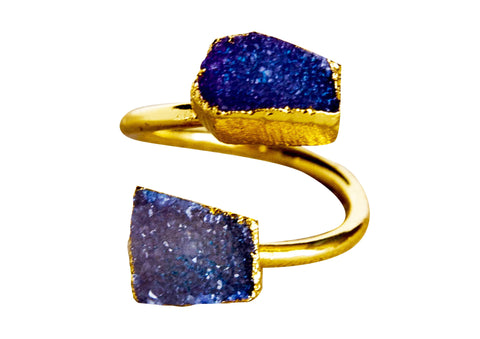 Pemberly Druzy Ring - Happy Poppy Jewelry