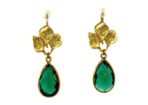 Emerald Green Drops - Happy Poppy Jewelry