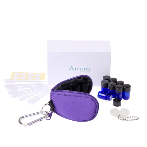Essential Oil Key Chain W/ Vials (Purple)