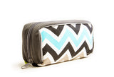 Essential Oil Travel Bag (Blue/Green Chevron)