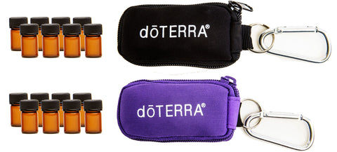 DoTERRA Key Chain W/ Vials 2 Pack (Black & Purple)