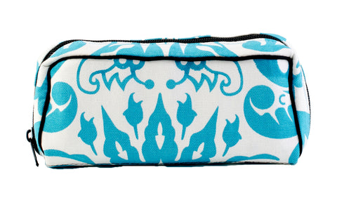 Essential Oil Travel Bag (Blue Floral)