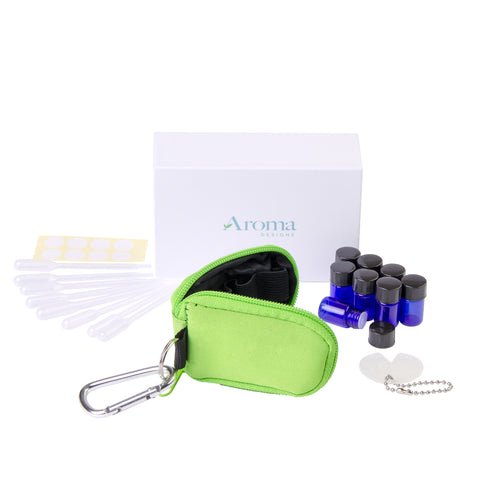 Essential Oil Key Chain W/ Vials (Green)