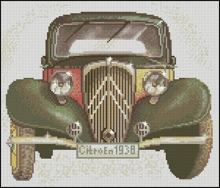 free cross stitch patterns -  1938 Citroen - www.crossstitchclub.com - 1