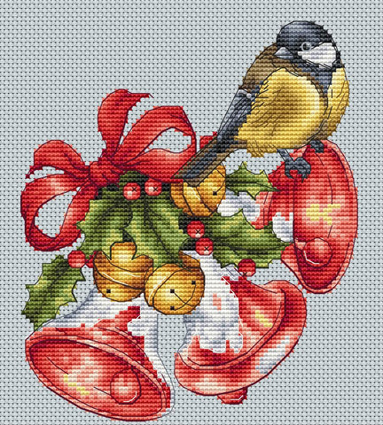 Bird with Christmas Bells