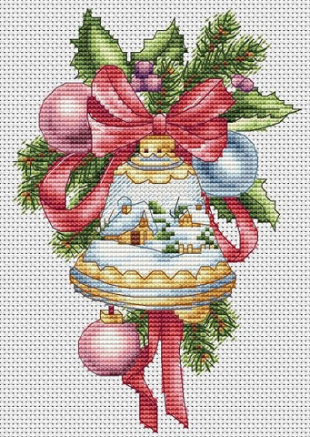 Christmas Bell with Winter Pattern